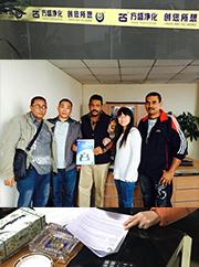 东南亚客户拜访废油滤油机厂家